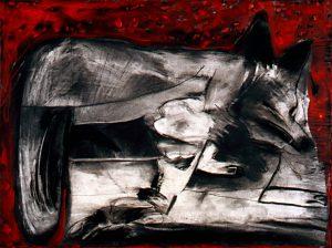 Disemboweled Coyote